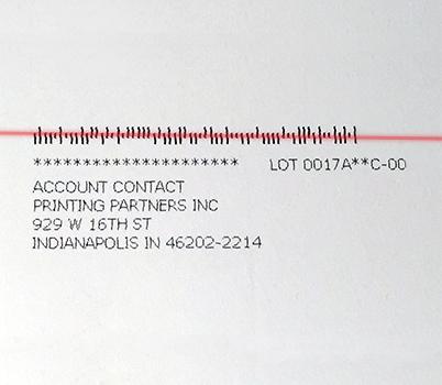 intelligent mailing barcode